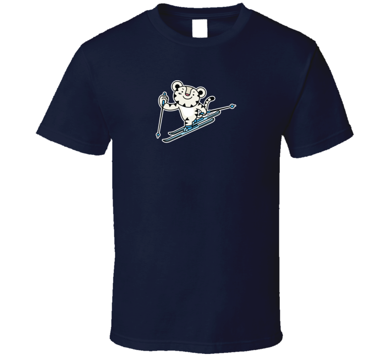 Cross Country Skiing Soohorang Pyeongchang 2018 Olympic Mascot T Shirt