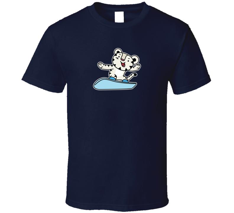 Snowboarding Soohorang Pyeongchang 2018 Olympic Mascot T Shirt