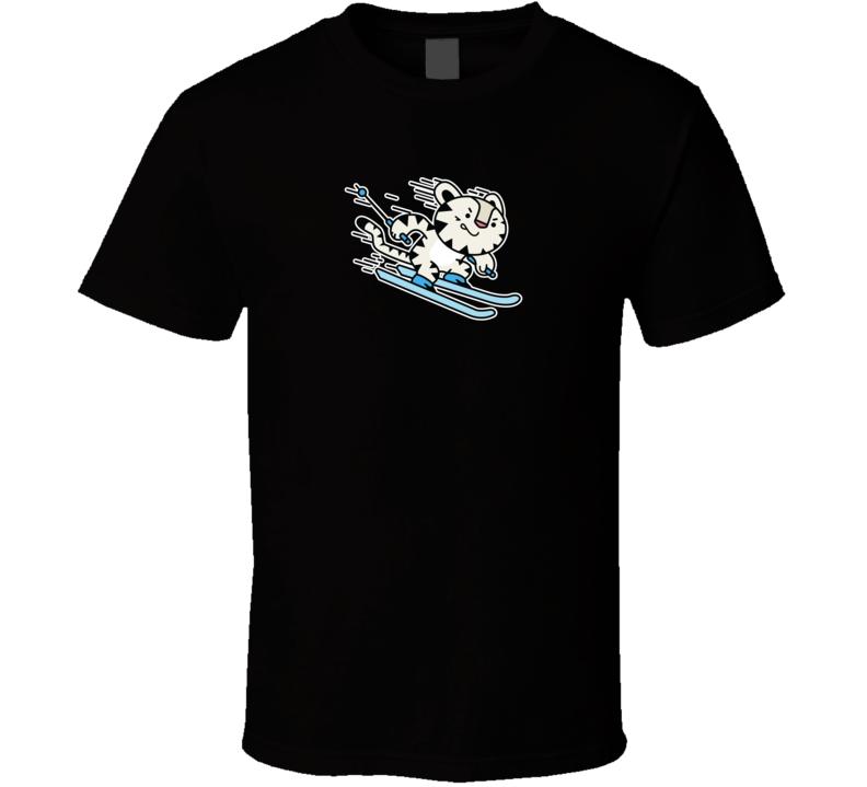 Alpine Skiing Soohorang Pyeongchang 2018 Olympics Mascot T Shirt