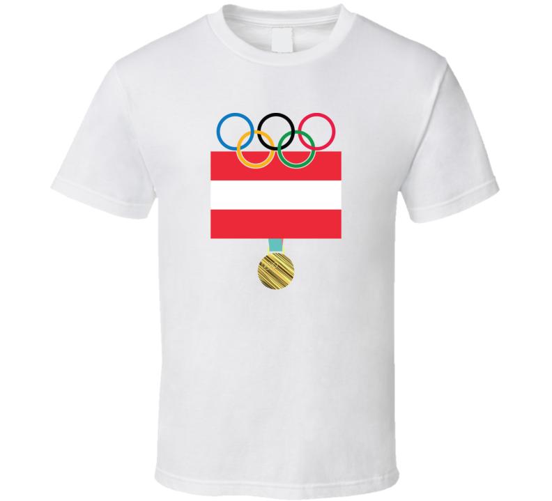 Austria Pyeongchang 2018 Winter Olympics Flag Gold Medal T Shirt