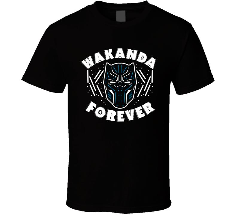 Black Panther Helmet Wakanda Forever T Shirt