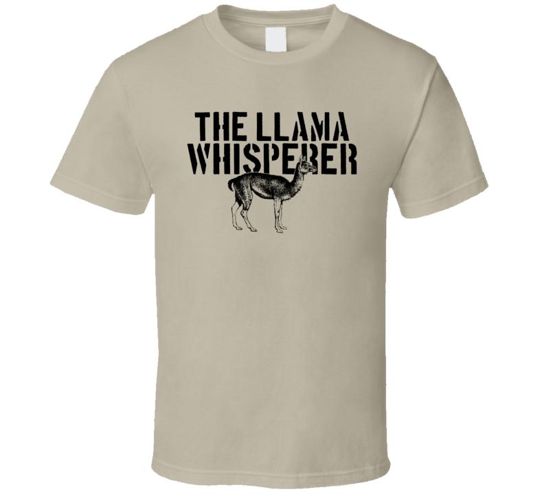 The Llama Whisperer Animal Mammal T Shirt