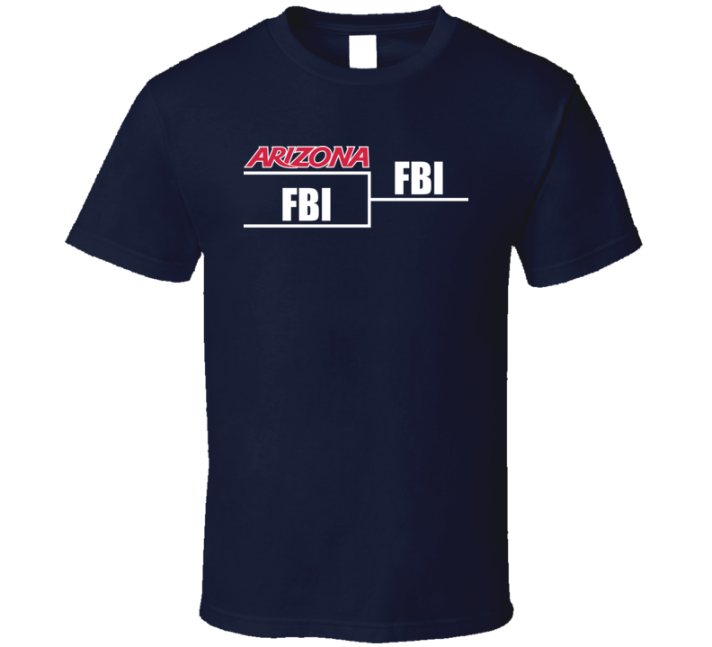 Arizona Vs Fbi Sean Miller Basketball Brackets T Shirt