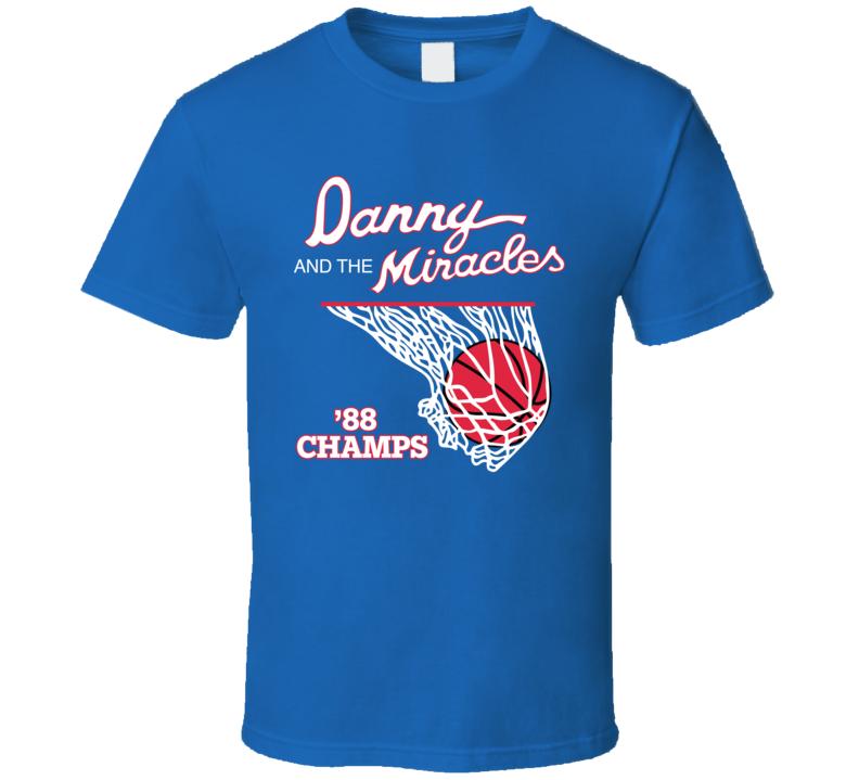 Danny Manning The Miracles 88 Champions Kansas Basketball Fan T Shirt