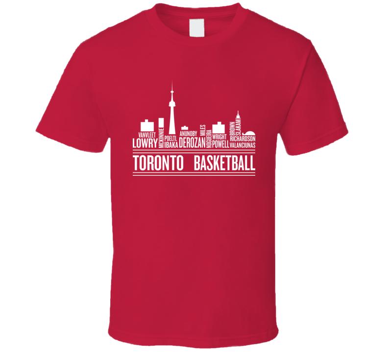 Toronto Basketball Team Legends Great Players Canada T Shirt