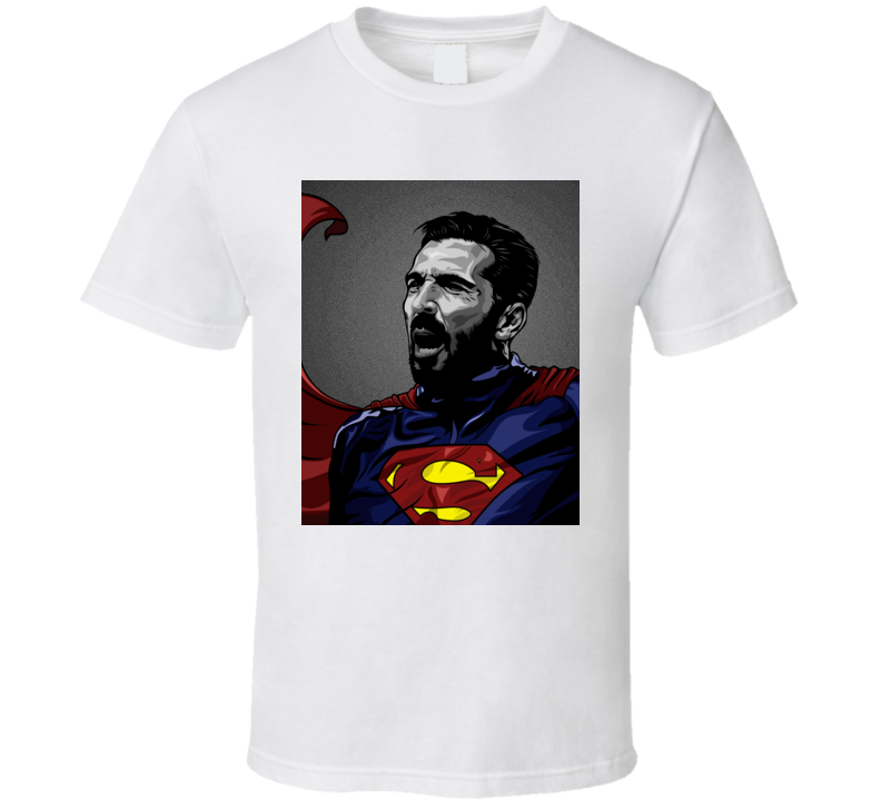 Juventus Gianluigi Buffon Goalie Superman Football Soccer T Shirt