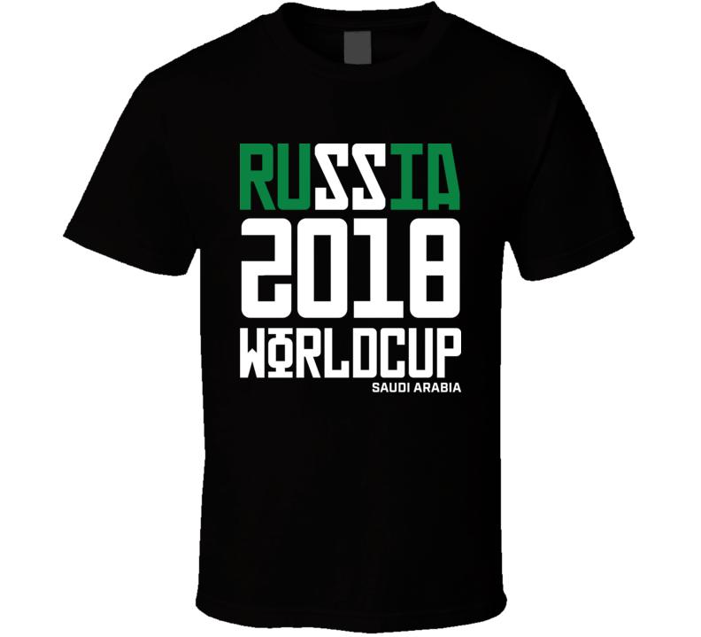 Saudi Arabia Russia 2018 World Cup Football Soccer Futbol T Shirt