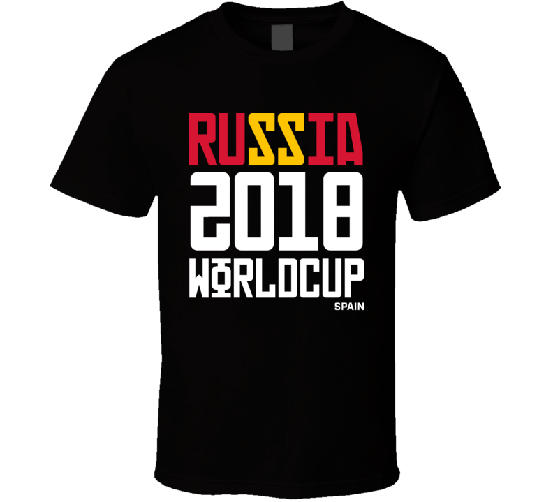 Spain Russia 2018 World Cup Football Soccer Futbol T Shirt
