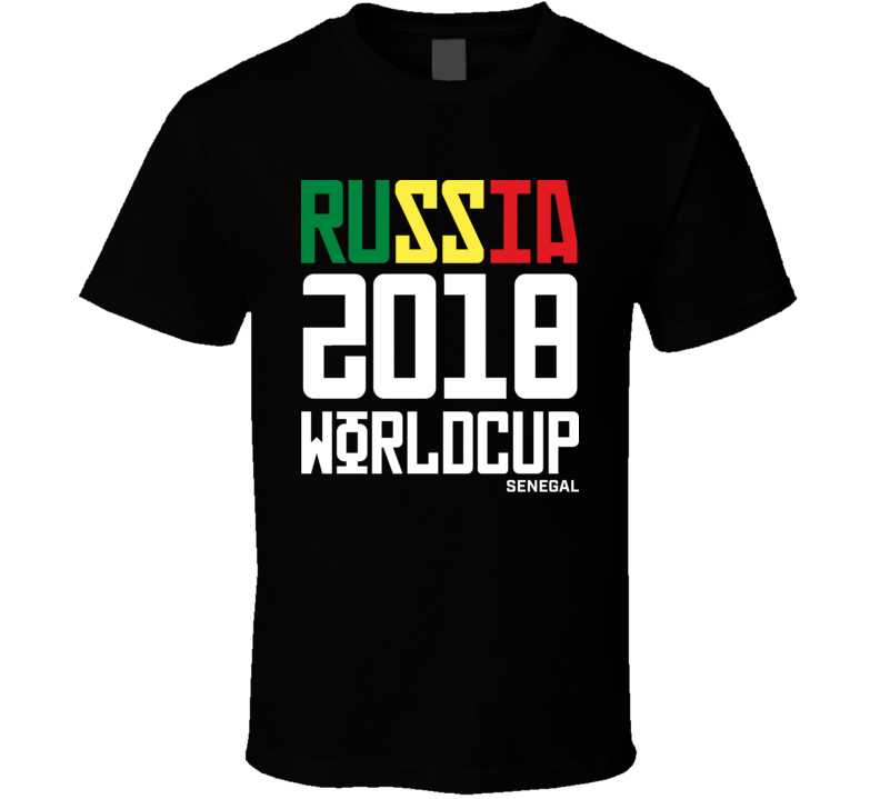 Senegal Russia 2018 World Cup Football Soccer Futbol T Shirt