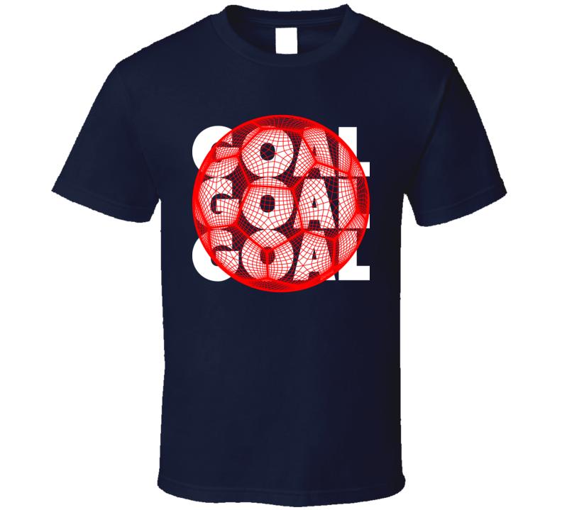 Japan Goal Soccer Ball Mesh Football World Cup Futbol Fan T Shirt