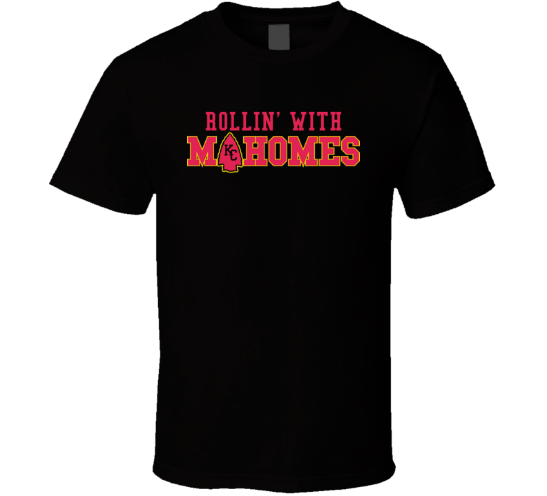 Rollin With My Mahomes Patrick Kansas Football Quarterback T Shirt