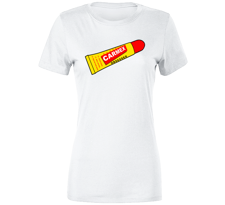 Carmex Obsessed Popular Lip Balm Lovers  Premium Ladies T Shirt