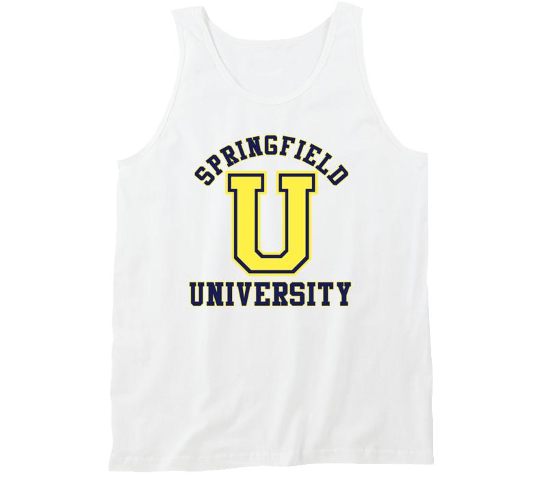 Springfield University Fictional University Tv Lover Tanktop