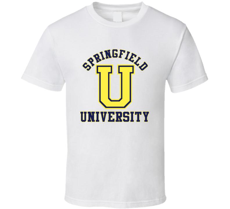 Springfield University Fictional University Tv Lover T Shirt