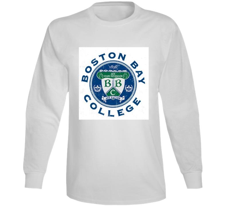 Boston Bay College Fictional University Dawson's Creek Distressed Look Long Sleeve