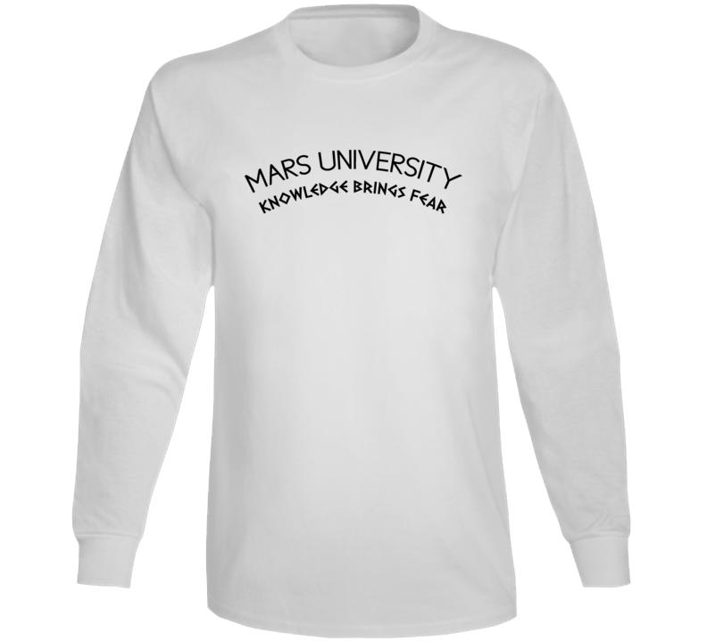 Mars University Fictional College Futurama Tv Show Fan Long Sleeve
