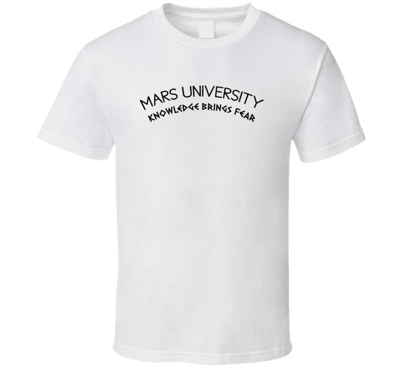 Mars University Fictional College Futurama Tv Show Fan T Shirt