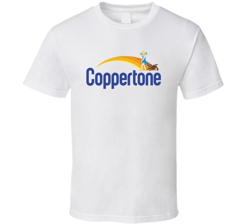Coppertone Sunscreen Mascot Logo T Shirt