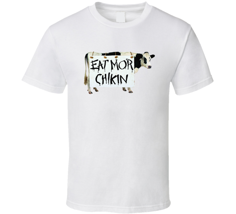 Chick Fil A Cow Eat Mor Chickin Funny Fast Food Mascot T Shirt