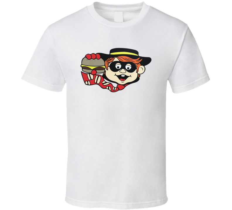 Hamburgler Mcdonalds Fast Food Mascot T Shirt