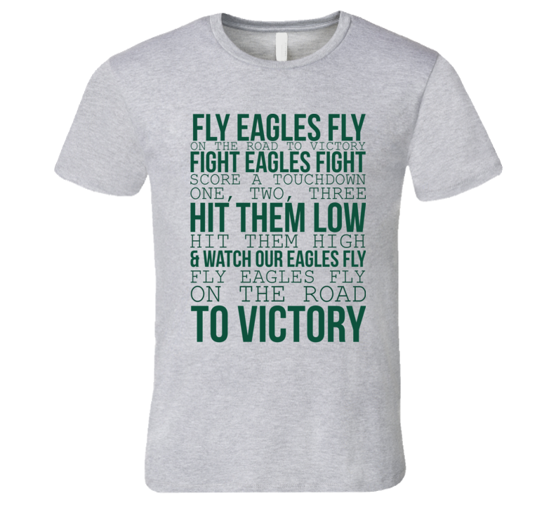Fly Eagles Fly On The Road To Victory Quote Philadelphia Football Fan T Shirt