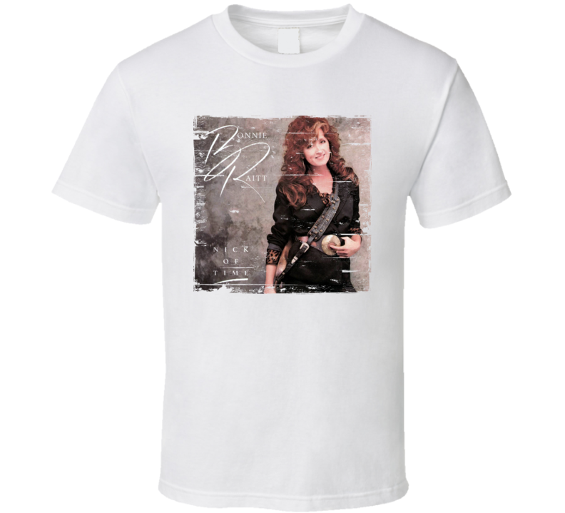 Bonnie Raitt Nick of Time Album Cover Distressed Image T Shirt
