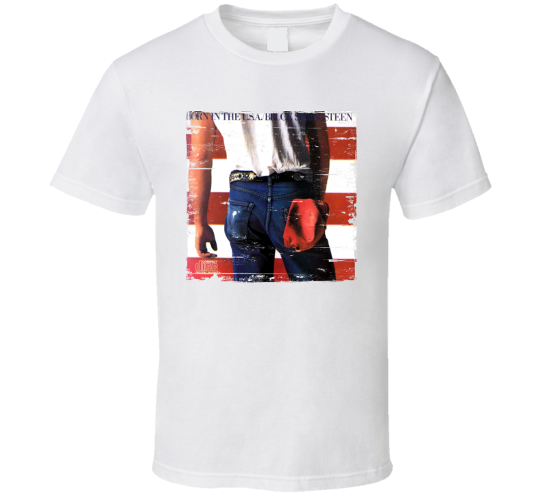 Bruce Springsteen Born in the USA Album Cover Distressed Image T Shirt