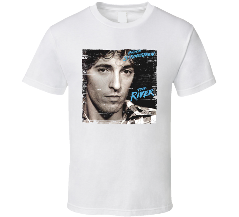 Bruce Springsteen The River Album Cover Distressed Image T Shirt