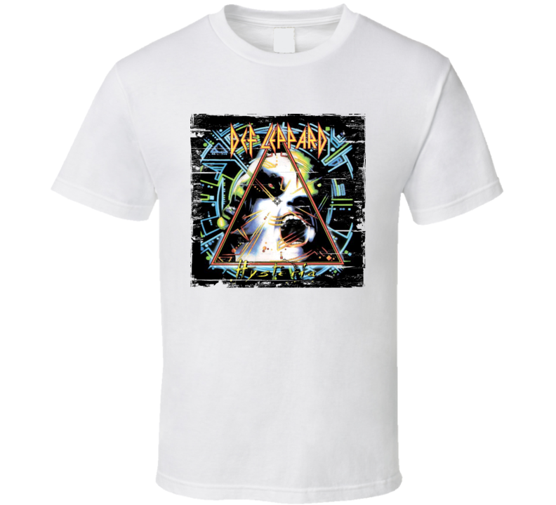 Def Leppard Hysteria Album Cover Distressed Image T Shirt