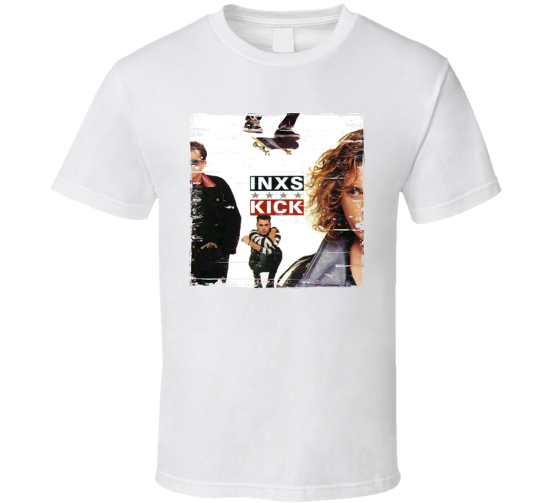 INXS Kick Album Cover Distressed Image T Shirt