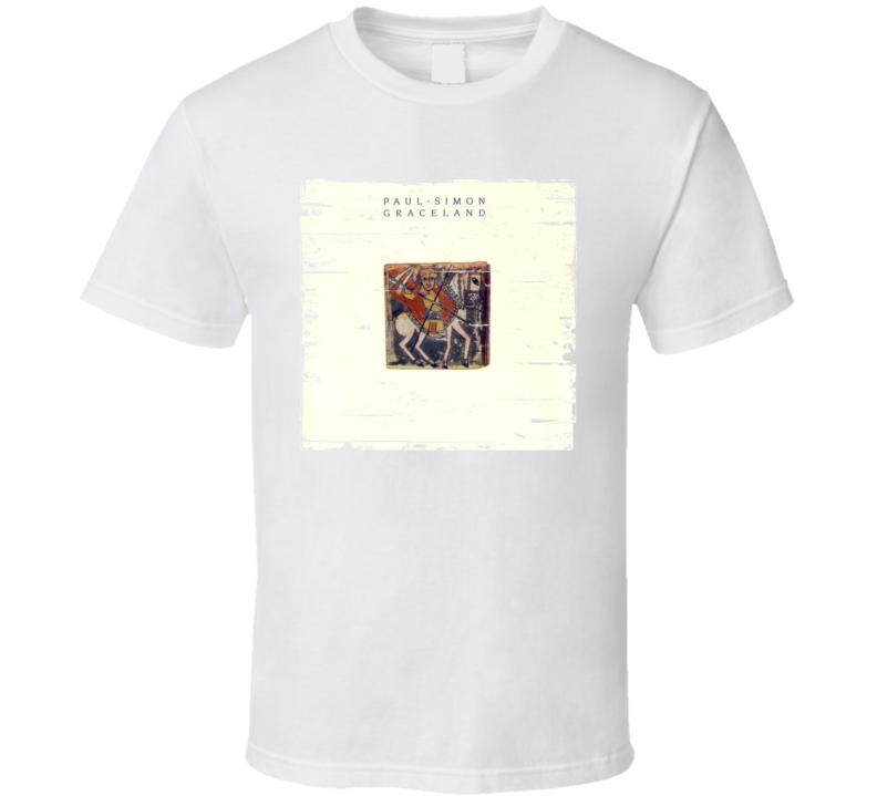 Paul Simon Graceland Album Cover Distressed Image T Shirt