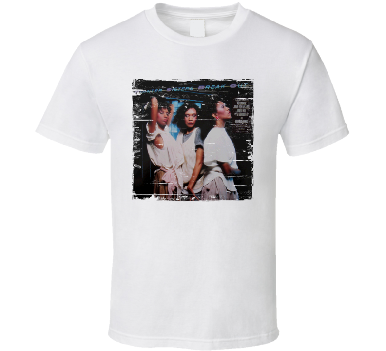 Pointer Sisters Break Out Album Cover Distressed Image T Shirt