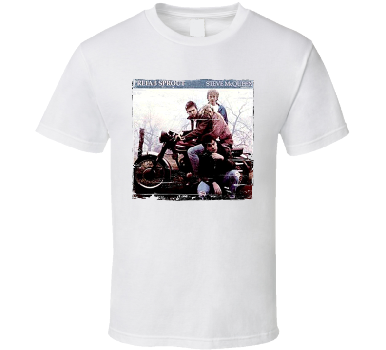 Prefab Sprout Steve McQueenTwo Wheels Good Album Cover Distressed Image T Shirt
