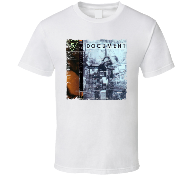 REM Document Album Cover Distressed Image T Shirt