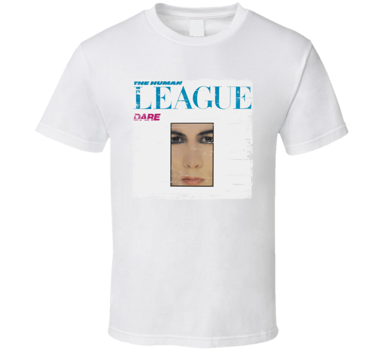 The Human League Dare Album Cover Distressed Image T Shirt
