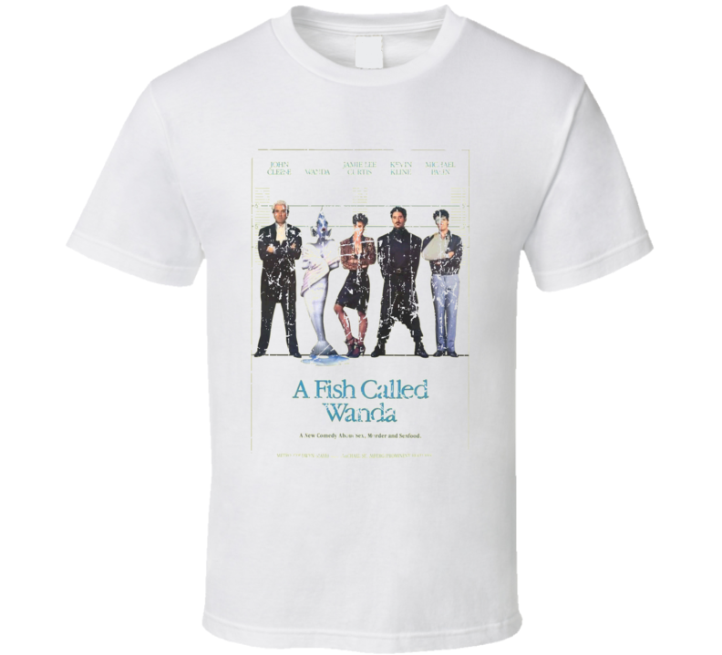 A Fish Called Wanda Movie Poster Retro Aged Look T Shirt