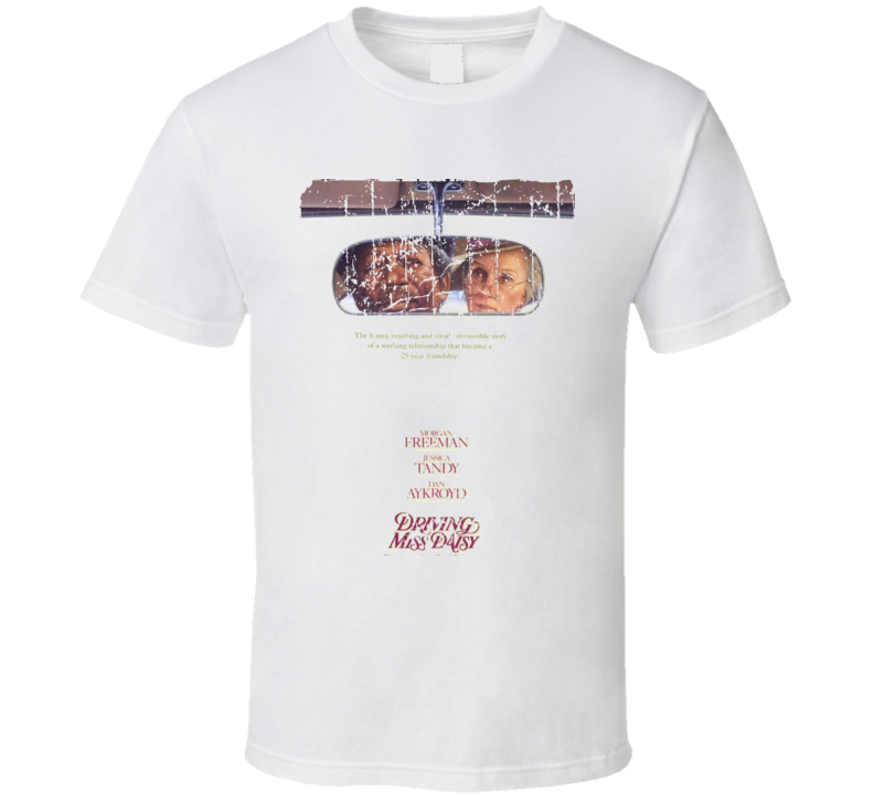 Driving Miss Daisy Movie Poster Retro Aged Look T Shirt
