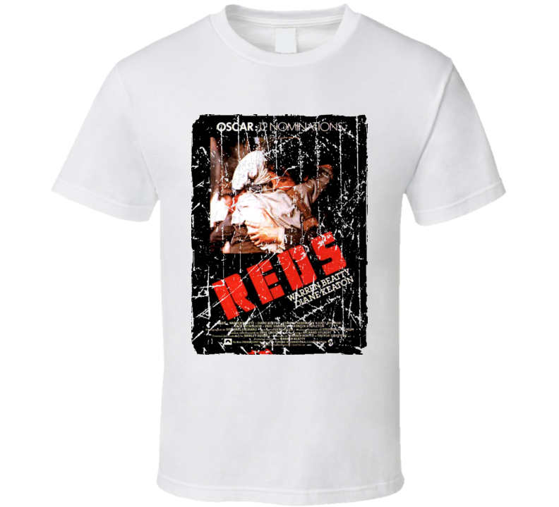 Reds Movie Poster Retro Aged Look T Shirt