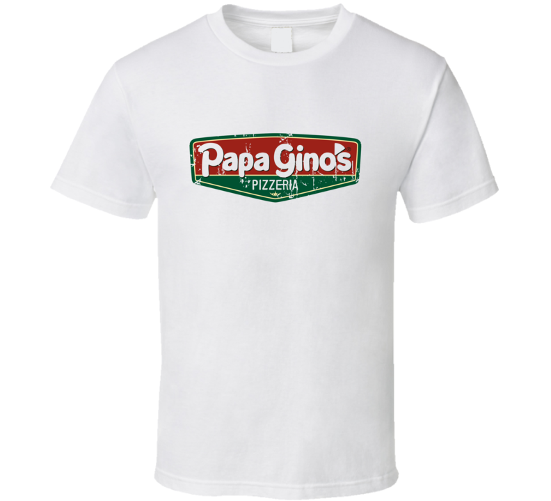 Papa Ginos Fast Food Restaurant Distressed Look T Shirt