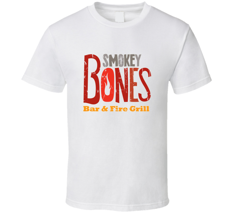 Smokey Bones Fast Food Restaurant Distressed Look T Shirt