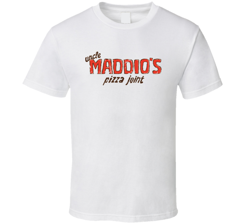Uncle Maddios Pizza Joint Fast Food Restaurant Distressed Look T Shirt