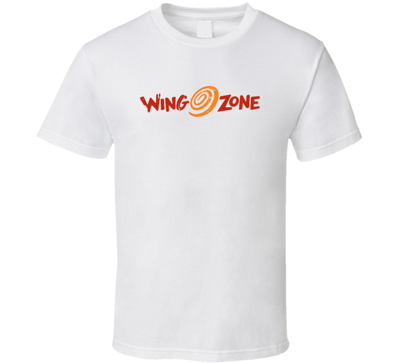 Wing Zone Fast Food Restaurant Distressed Look T Shirt