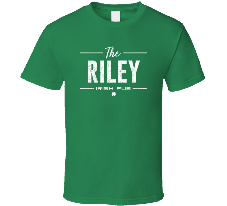 Riley Irish Pub St Patrick's Day Custom Last Name Beer Party T Shirt