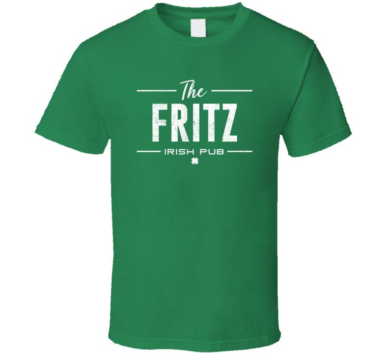 Fritz Irish Pub St Patrick's Day Custom Last Name Beer Party T Shirt
