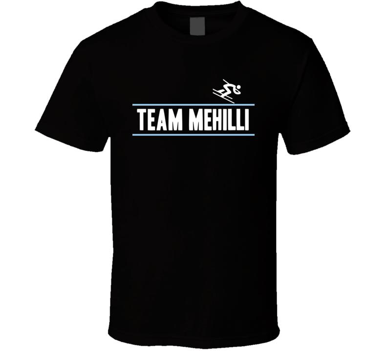 Suela Mehilli Albania Team Winter Olympic Athlete Alpine Skiing Fan T Shirt