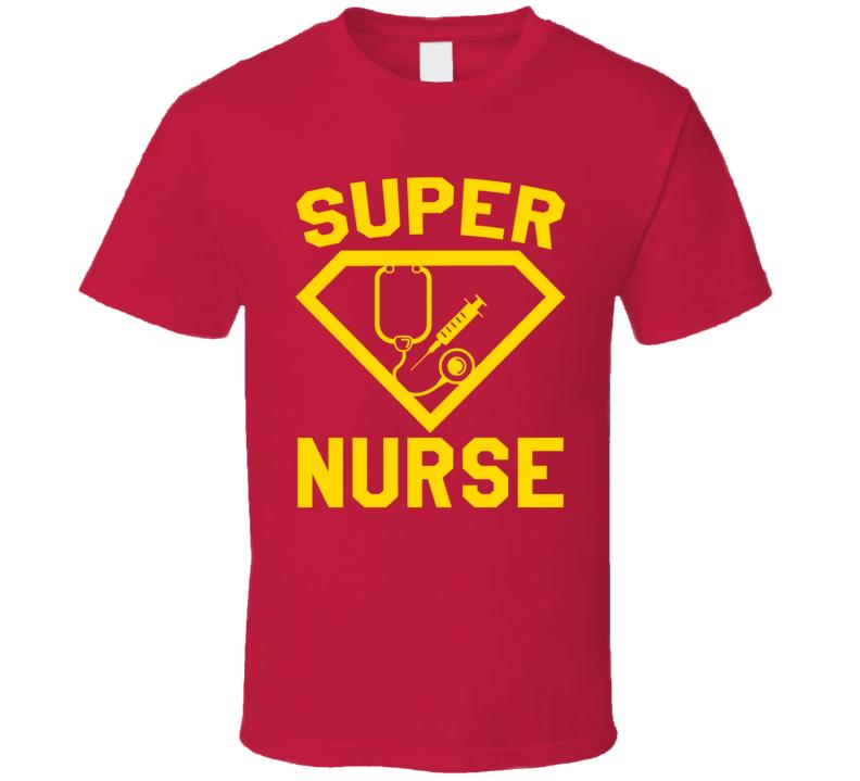 Super Registered Nurse Job Occupation Logo Superhero Co-worker Gift T Shirt