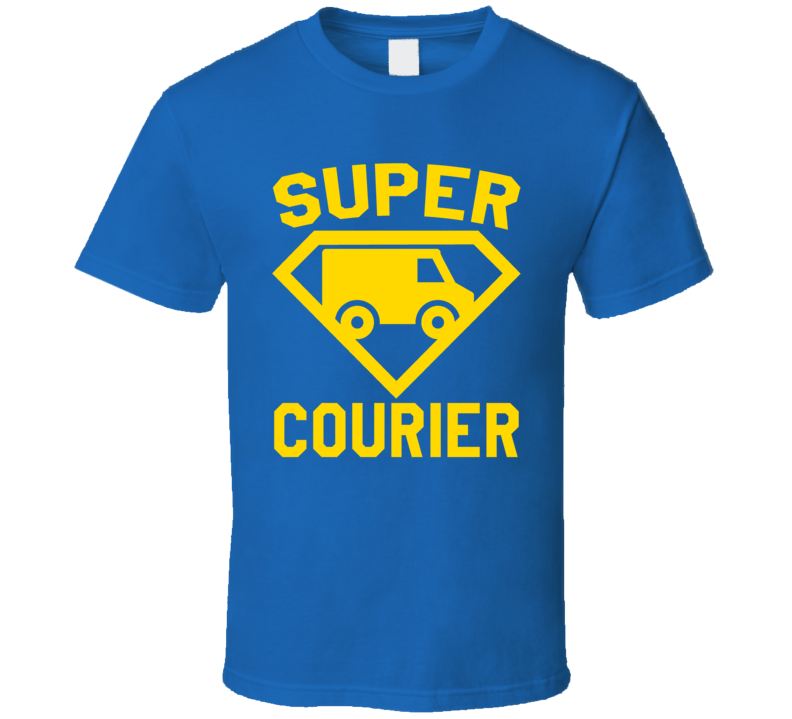 Super Courier Job Occupation Logo Superhero Co-worker Gift T Shirt