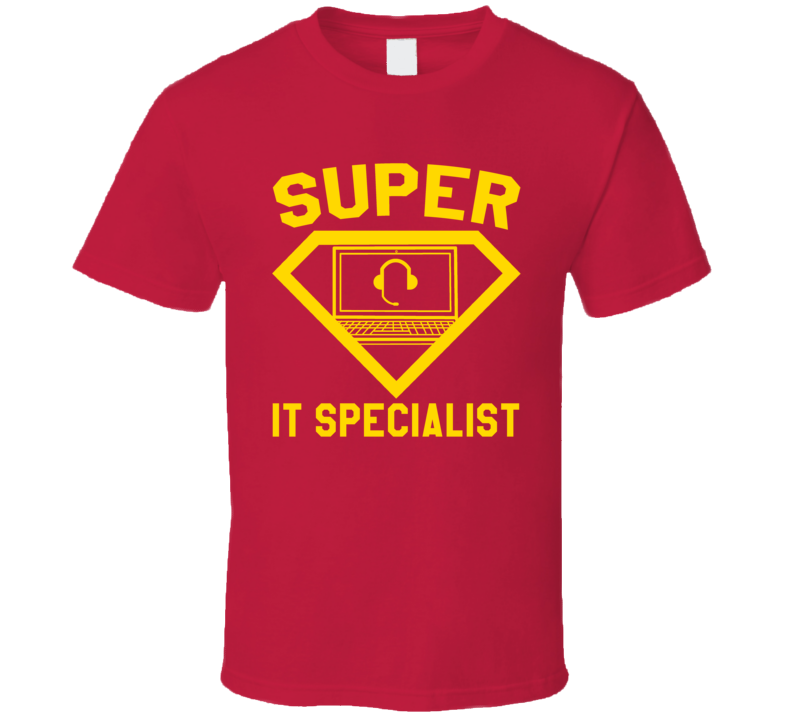 Super It Specialist Worker Job Occupation Logo Superhero Co-worker Gift T Shirt