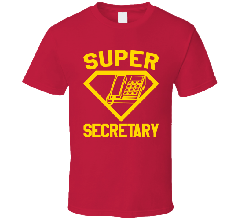 Super Secretary Job Occupation Logo Superhero Co-worker Gift T Shirt