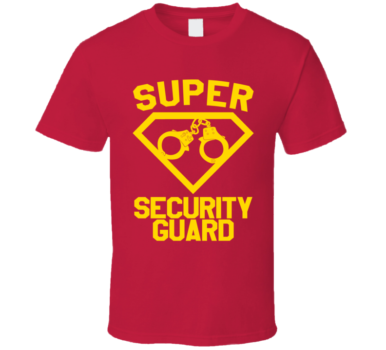 Super Security Guard Job Occupation Logo Superhero Co-worker Gift T Shirt